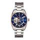 BENTLEY賓利 活力動芯系列 精緻品味機械錶-藍x玫瑰金銀/41mm product thumbnail 1