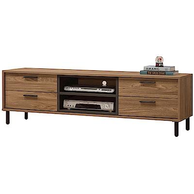 文創集 藍柏蒂5尺美型電視櫃/視聽櫃(二色)-151x40x45.5cm免組