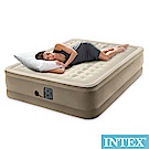 INTEX 超厚絨豪華內建電動幫浦雙人加大充氣床-寬152cm(64457)