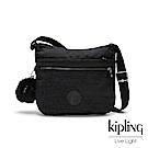 Kipling 沉靜黑素面前拉鍊側背包-ARTO-ESSENTIAL系列