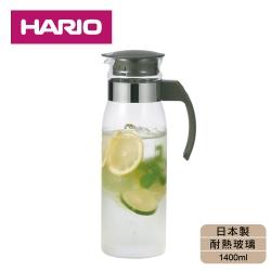 [日本HARIO]耐熱玻璃冷水壺1400ml-灰