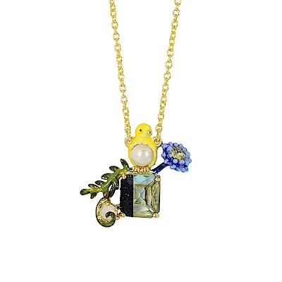 Les Nereides 動物花園系列 金絲雀花園寶石項鍊