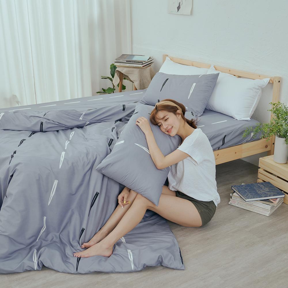 BUHO 乾爽專利機能雙人加大三件式床包枕套組(吾宅城所)