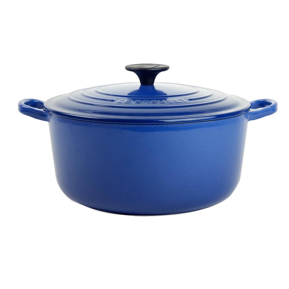 LE CREUSET 琺瑯鑄鐵圓鍋24cm-英國藍