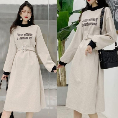 【韓國K.W.】(預購)復古百搭印花洋裝
