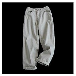 寬鬆棉質哈倫牛仔九分褲-設計所在