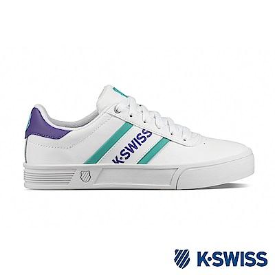 K-SWISS Court Lite Spellout運動鞋-女-白/紫/綠