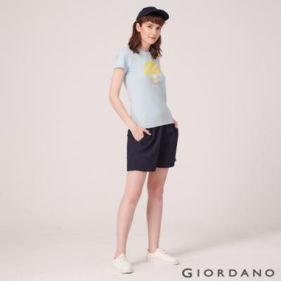 GIORDANO  女裝Classic輕便短褲 - 66 標誌海軍藍