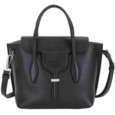 TOD'S Joy Bag T釦牛皮手提肩背包(黑色)