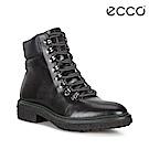 ECCO CREPETRAY HYBRID L 帥氣復古銅釦個性高筒靴 女-黑