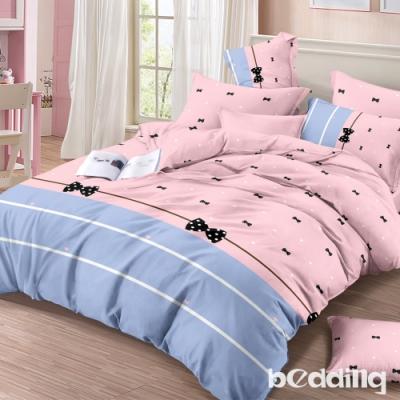BEDDING-頂級法蘭絨-單人床包被套三件組-蝴蝶結