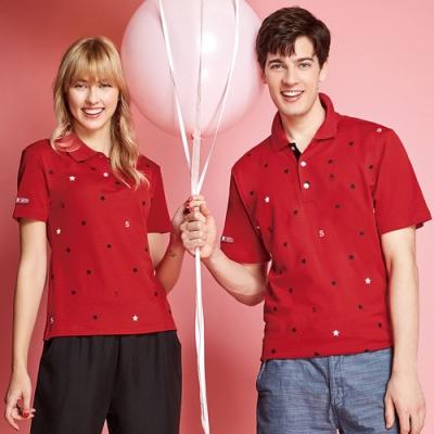 Spar雙棉吸濕排汗男版短袖POLO衫S208214紅色