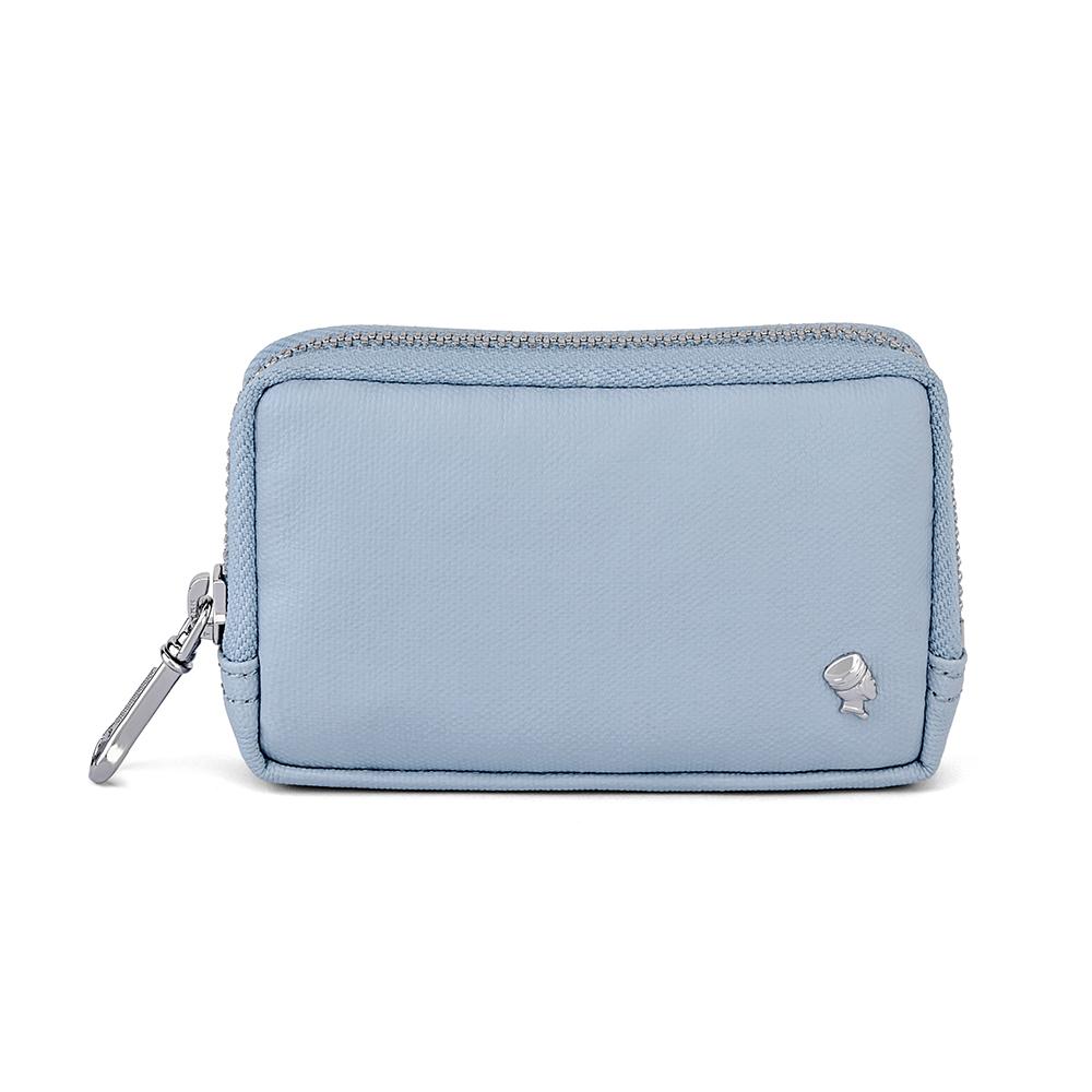 PORTER - 輕甜繽紛SPIRIT實用零錢包- 粉藍(銀)