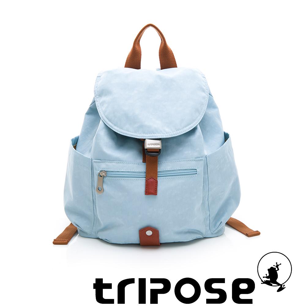 tripose MEMENTO系列微皺尼龍經典輕量後背包(小)湖水藍