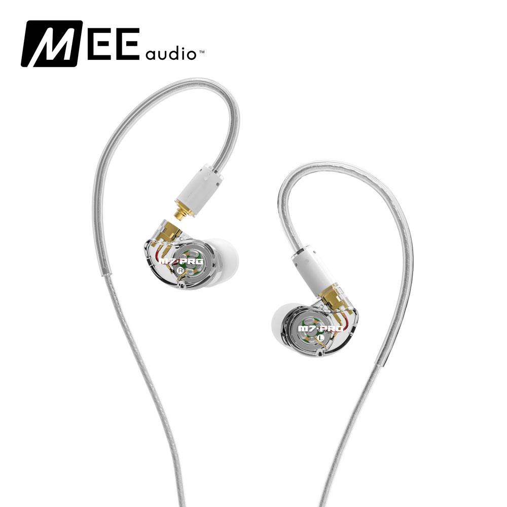MEE audio M7 Pro 混合式雙單體監聽耳機(透明)