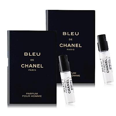 CHANEL 香奈兒 BLEU DE 藍色男性香精<b>1</b>.5mlX2-隨身針管試香