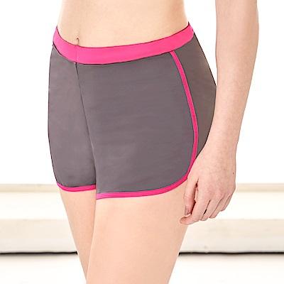 運動短褲 防走光時尚顯瘦L-XL運動短褲 優雅灰 可蘭霓Clany