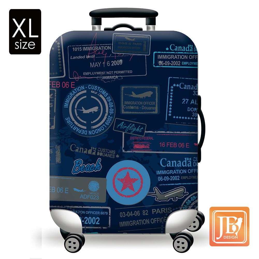 繽紛行李箱套-集郵旅行XL