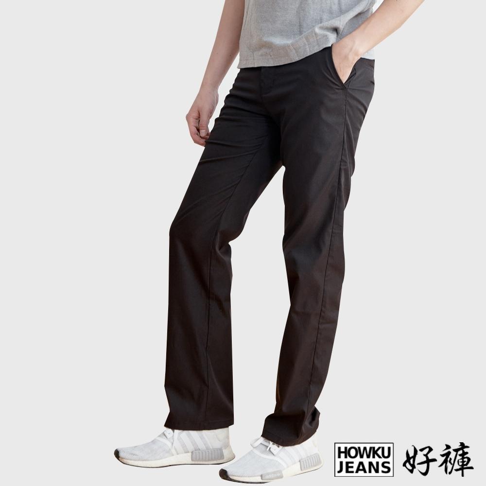 HowKu好褲 黑色紳士舒適百搭休閒褲