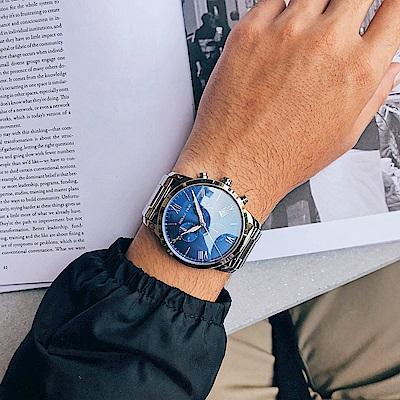 RELAX TIME RT67 飛行者計時手錶(RT-67-2)-藍x銀/45mm