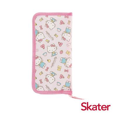 Skater外出餐具收納袋-Kitty粉