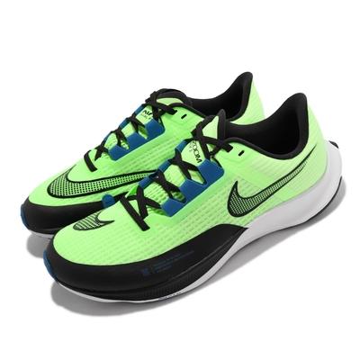 Nike 慢跑鞋 Zoom Rival Fly 3 運動 男鞋 氣墊 避震 包覆 路跑 健身 球鞋 綠 黑 CT2405-300