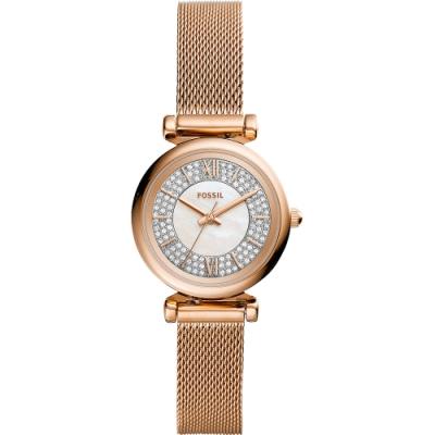FOSSIL Mini 晶鑽小錶徑米蘭女錶(ES4836)-28mm