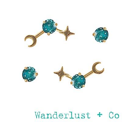 Wanderlust+Co 生日石系列- 十二月耳環