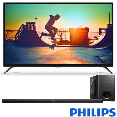 PHILIPS飛利浦 65吋 4K 液晶顯示器65PUH6052+聲霸 HTL7140B