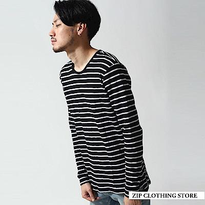 百搭長版長袖T恤(3色) ZIP日本男裝
