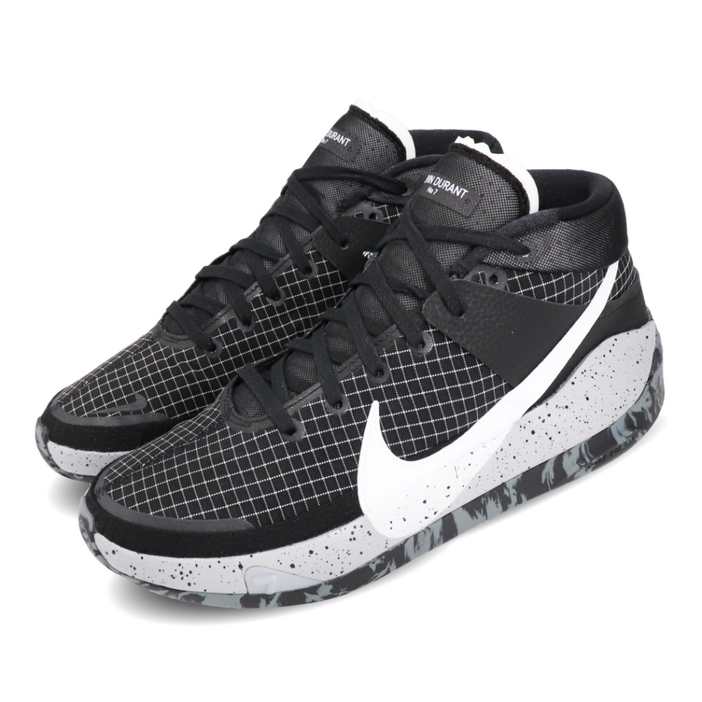 Nike 藍球鞋 KD13 EP 運動 男鞋 避震 包覆 支撐 明星款 球鞋 黑 白 CI9949004