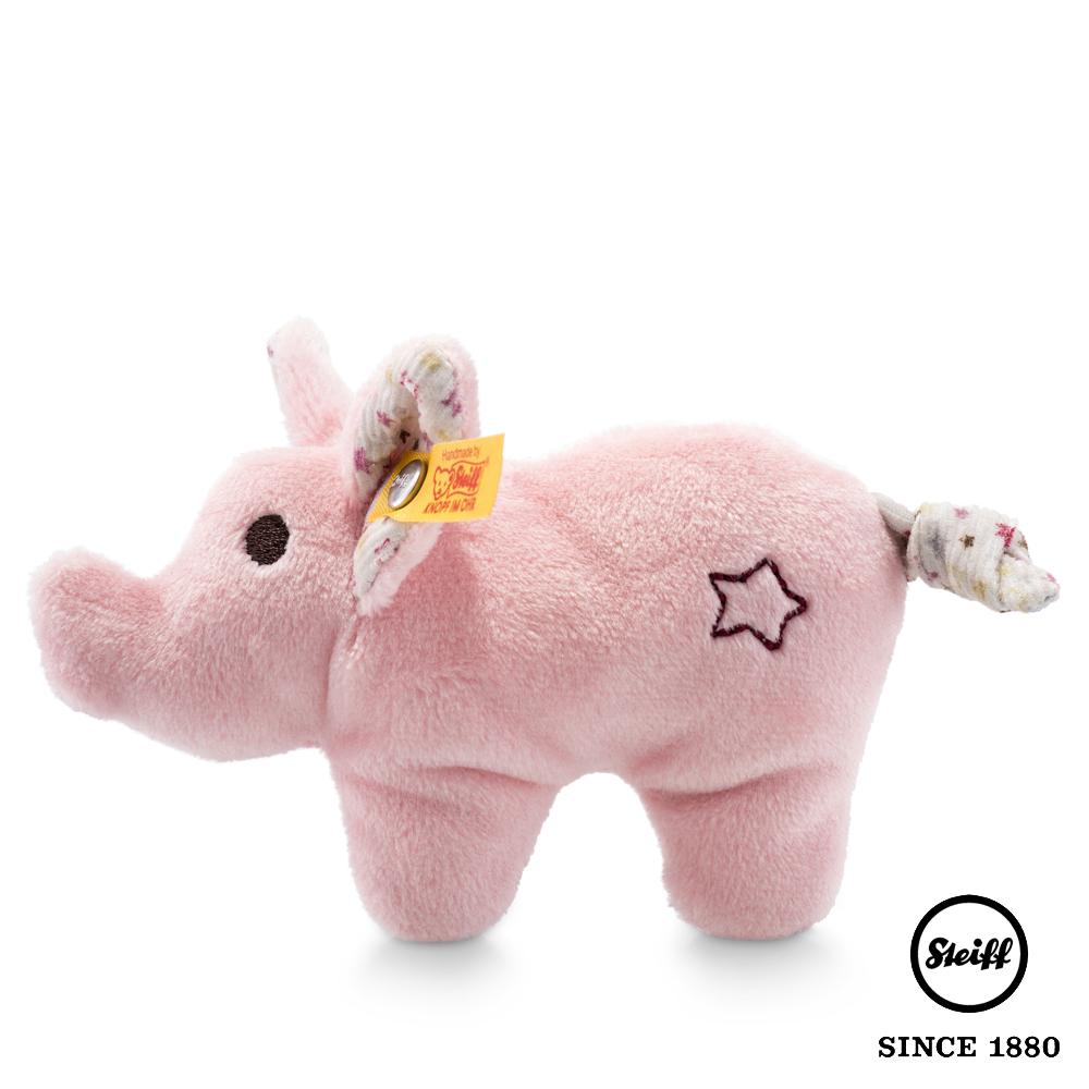 STEIFF德國金耳釦泰迪熊 小豬 Mini pig(嬰幼兒手搖玩偶)