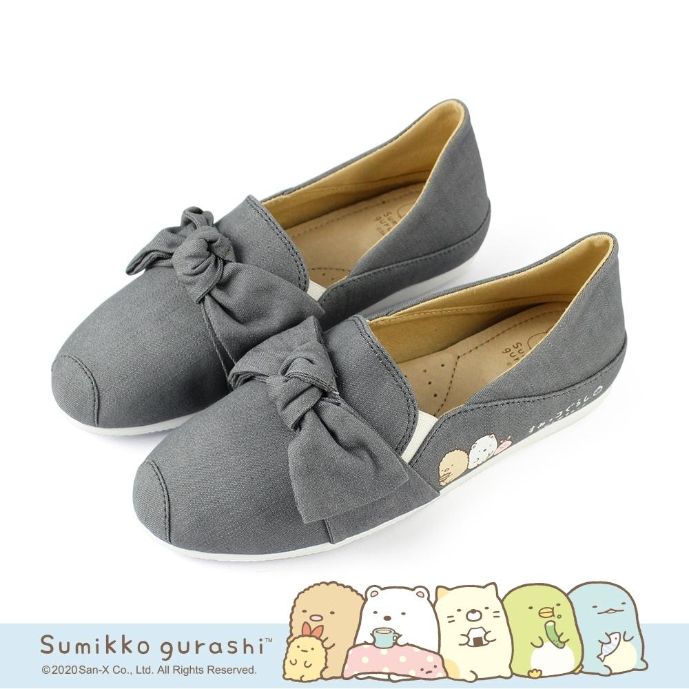 角落小夥伴 踩腳鞋2WAY懶人鞋不彎腰鞋-灰色扭結炸豬排&白熊