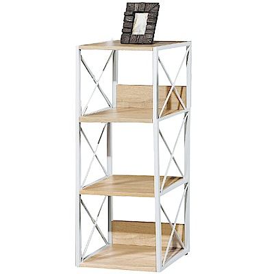 文創集 法斯時尚1.5尺開放式三格書櫃/收納櫃-44x35x109cm免組