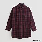Hang Ten -女裝 - 英倫風配色格紋襯衫 - 紅