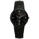 Valentino Coupeau 范倫鐵諾 古柏 晶鑽陶瓷腕錶 黑陶