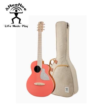 aNueNue MC10 LC 36吋旅行木吉他 活珊瑚橘色款