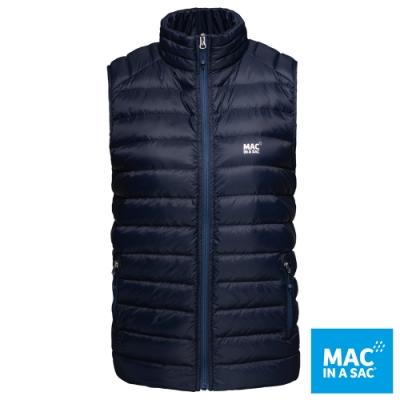 【MAC IN A SAC】女款輕暖袋著走羽絨保暖背心LDS179深藍/極輕量易攜帶