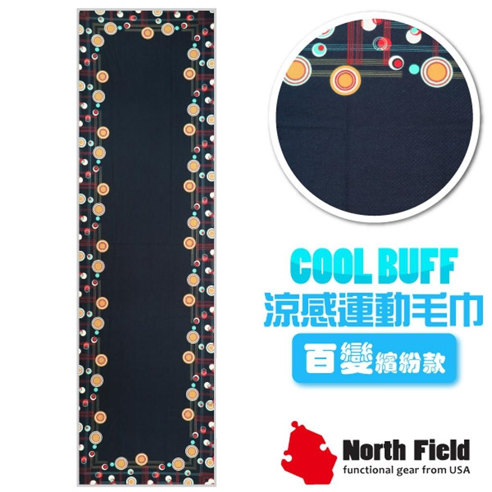 North Field COOL BUFF 百變繽紛款 降溫速乾吸濕排汗涼感運動毛巾_黑夜光環