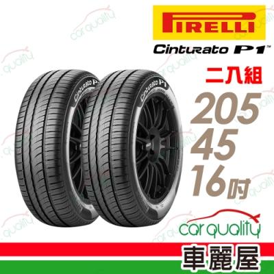 【倍耐力】CINTURATO P1 低噪溼地操控性輪胎_二入組_205/45/16
