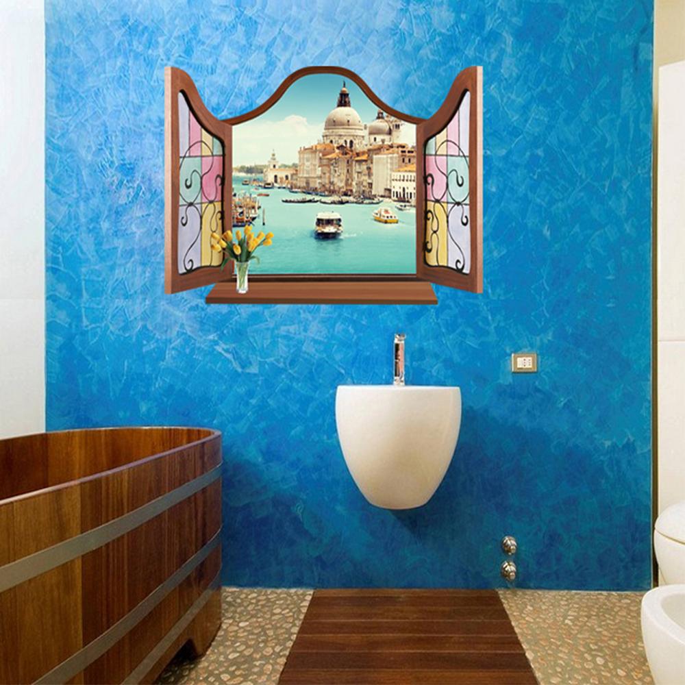 半島良品 DIY無痕壁貼-歐式假窗彼得堡 MJ8017B 60x90cm
