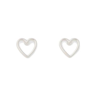 Pura Vida 美國手工 OPEN HEART 鏤空愛心純銀耳環