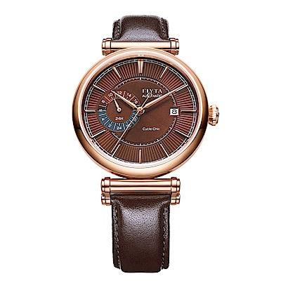 FIYTA飛亞達 IN系列率性咖啡色皮帶機械錶GA850001.PSR-41.5mm