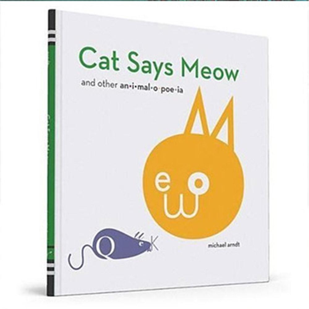 Cat Says Meow 動物聲音字母造型趣味書