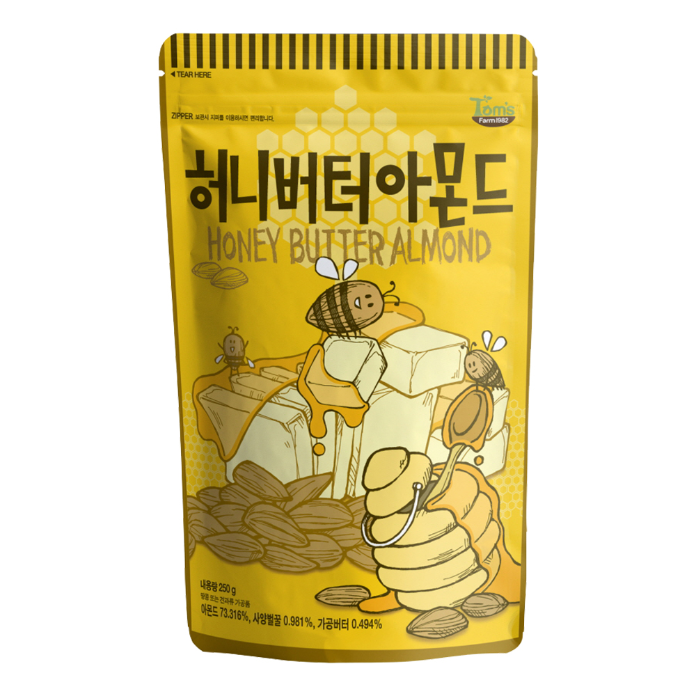 韓國Toms Gilim 杏仁果-蜂蜜奶油味(250g)