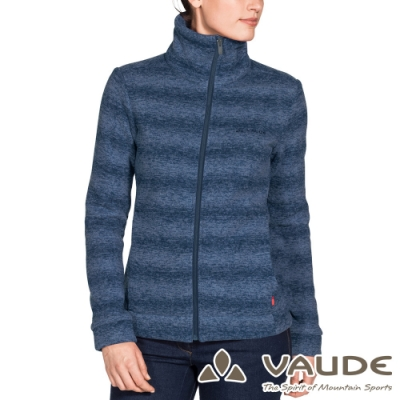 【VAUDE德國 】女款時尚刷毛保暖羊毛外套VA-41084海藍