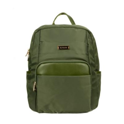 ANGIMI SHOP 後背防潑水通勤多口袋包 漫遊貝兒-軍綠色