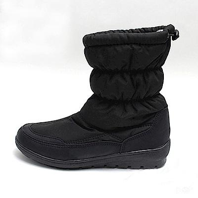 【AIRKOREA韓國空運】鋪棉收口內刷毛休閒懶人短靴-黑