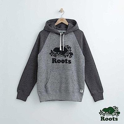 Roots 男裝-經典連帽上衣-深灰色