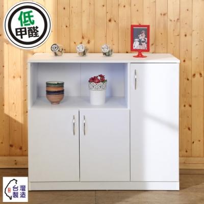 BuyJM 雅緻低甲醛三門電器櫃/廚房櫃90x39x82公分